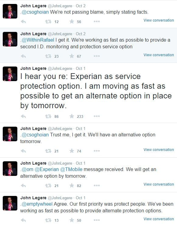 T-Mobile CEO tweets
