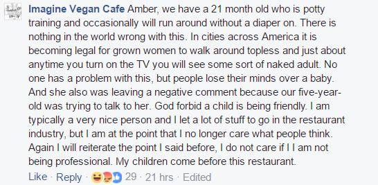 Vegan Cafe - Negative reviews - response 3